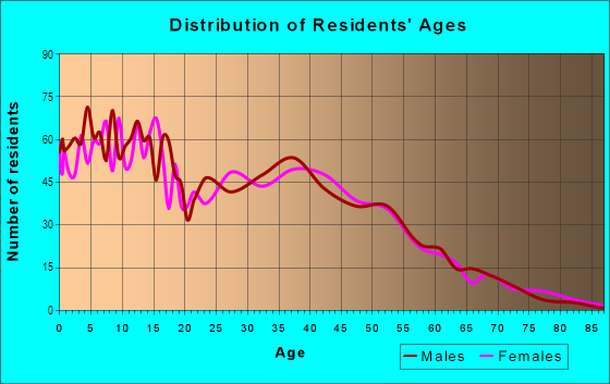 Age and Sex of Residents in Bicentennial Neighborhood Coalition in Glendale, AZ