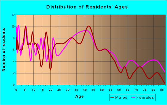 Age and Sex of Residents in Ogden Avenue District in Berwyn, IL