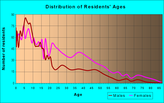 Age and Sex of Residents in Bronzeville in Chicago, IL