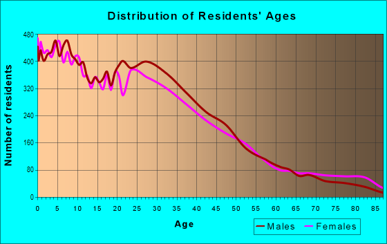 Age and Sex of Residents in Gage Park in Chicago, IL