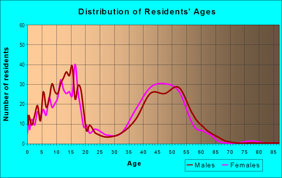 Age and Sex of Residents in Winding Creek Estates in Naperville, IL