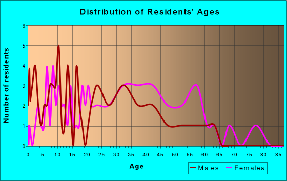 Age and Sex of Residents in Huntington Commons in Naperville, IL
