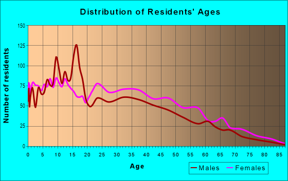 Age and Sex of Residents in Wellington Hill in Mattapan, MA