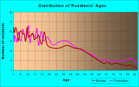 Age and Sex of Residents in Six Corners in Springfield, MA