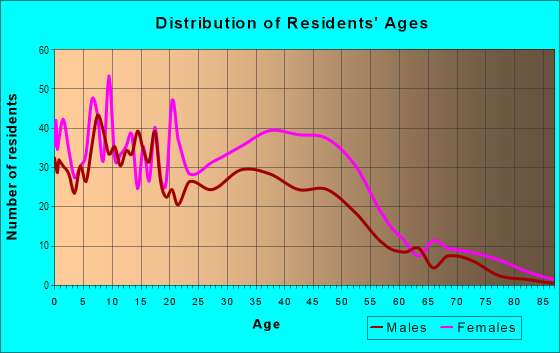 Age and Sex of Residents in Beechfield in Baltimore, MD