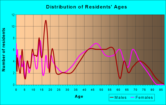 Age and Sex of Residents in Homestead Estates in Silver Spring, MD