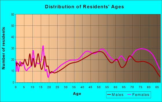 Age and Sex of Residents in Northwestern Highway in Farmington, MI