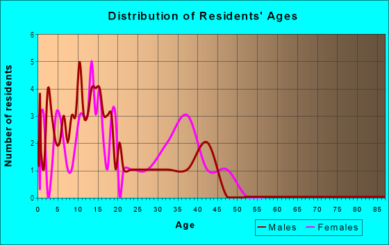 Age and Sex of Residents in Rancho Mesa Verde in Somerton, AZ