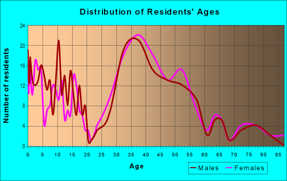 Age and Sex of Residents in Page in Minneapolis, MN