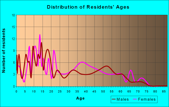 Age and Sex of Residents in Lakewood in Charlotte, NC