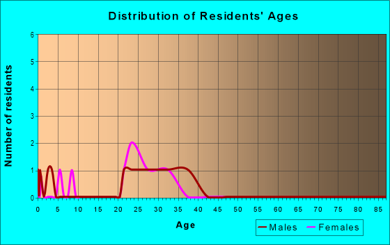 Age and Sex of Residents in Holston Lane in Raleigh, NC
