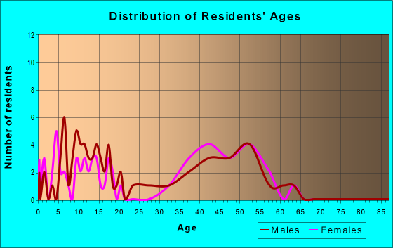 Age and Sex of Residents in Brandon Station in Raleigh, NC