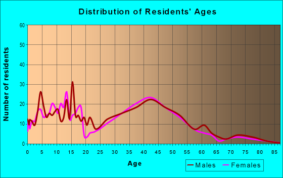 Age and Sex of Residents in Big Island Pond in Derry, NH