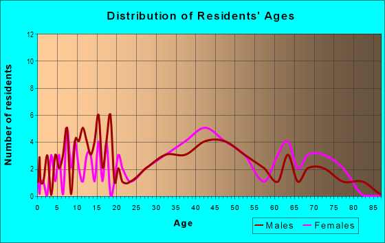 Age and Sex of Residents in South Willow Street in Manchester, NH