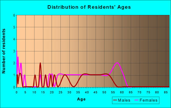 Age and Sex of Residents in Colonial Village in Somersworth, NH