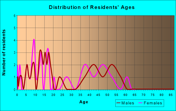 Age and Sex of Residents in Hudson Avenue in Maplewood, NJ