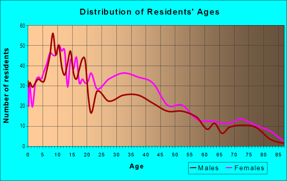 Age and Sex of Residents in Lanning Square in Camden, NJ