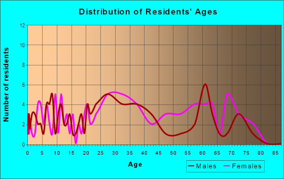 Age and Sex of Residents in Bavington Court in Las Vegas, NV