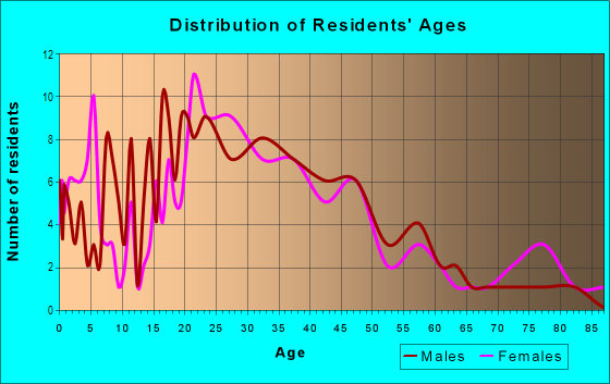 Age and Sex of Residents in Cottage Avenue Business District in Port Chester, NY