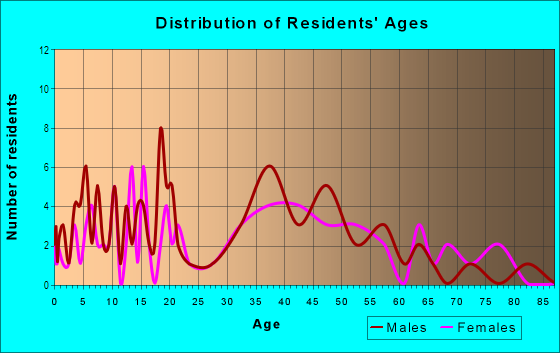 Age and Sex of Residents in Village of Newman in Massillon, OH