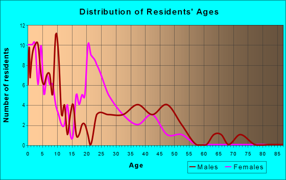 Age and Sex of Residents in Warehouse District in Toledo, OH