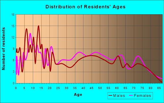 Age and Sex of Residents in Homewood West in Pittsburgh, PA