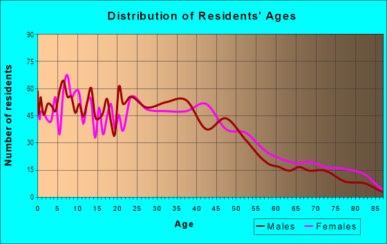 Age and Sex of Residents in Queen Anne Historic District in Reading, PA
