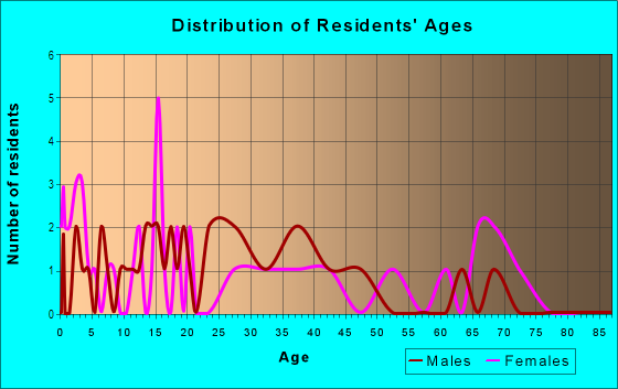 Age and Sex of Residents in Bell View in Plano, TX