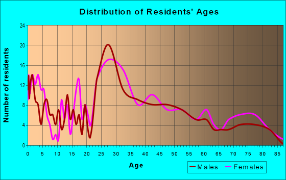 Age and Sex of Residents in Fish Village in Galveston, TX