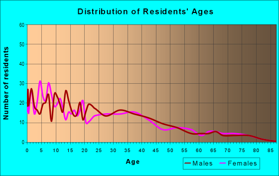 Age and Sex of Residents in Llano Historic District in Amarillo, TX