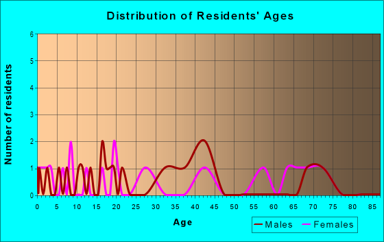 Age and Sex of Residents in Belleview Addition in Plano, TX