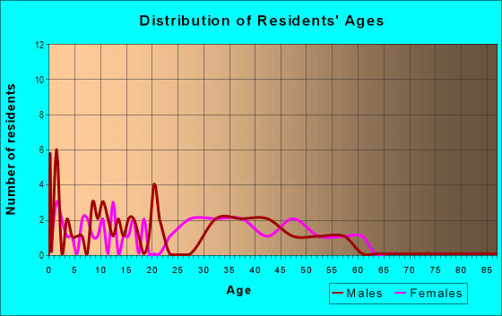Age and Sex of Residents in Parkview Addition in Plano, TX