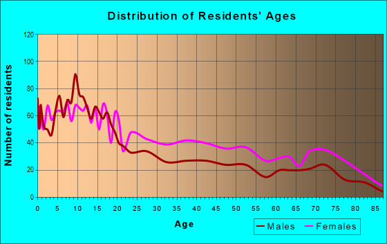 Age and Sex of Residents in Segundo Barrio in El Paso, TX