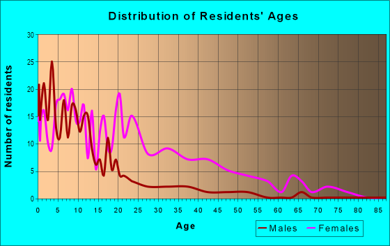 Age and Sex of Residents in Roberts Village in Norfolk, VA
