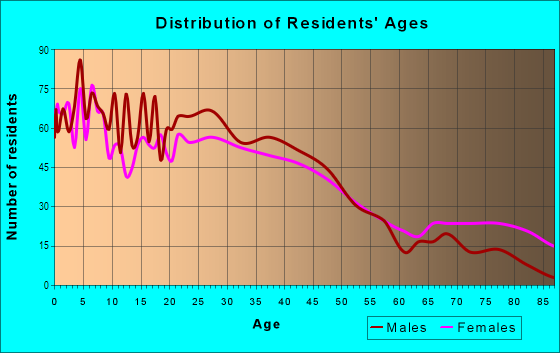 Age and Sex of Residents in Burnham Park in Milwaukee, WI