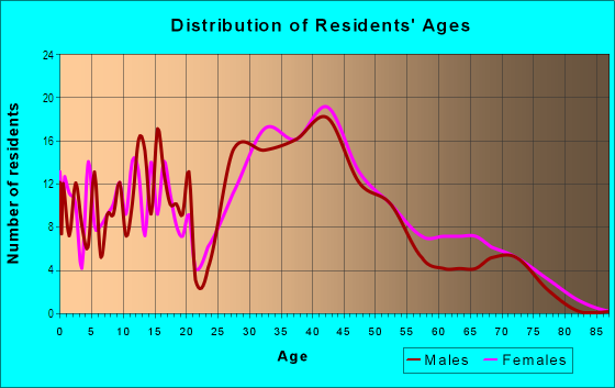 Age and Sex of Residents in Little Branham in San Jose, CA