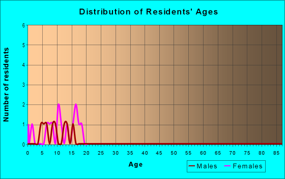 Age and Sex of Residents in Binning Tract in Davis, CA