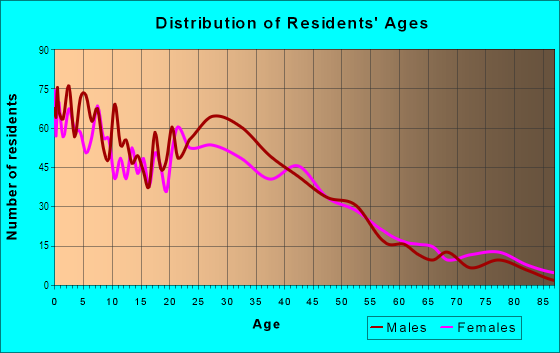 Age and Sex of Residents in Barnum in Denver, CO