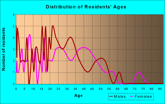 Age and Sex of Residents in Northwest Rossborough Neighborhood Group in Fort Collins, CO