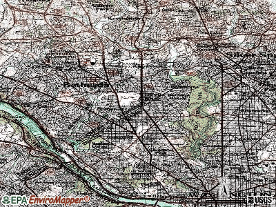 Chevy Chase Village topographic map