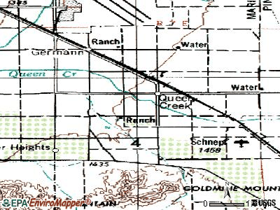 Queen Creek topographic map
