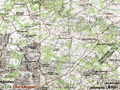 Cloverly topographic map