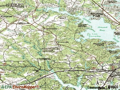 Crownsville topographic map