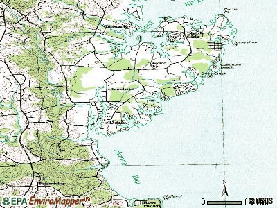Deale topographic map