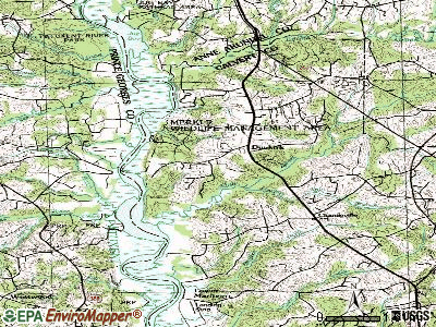 Discovery-Spring Garden topographic map