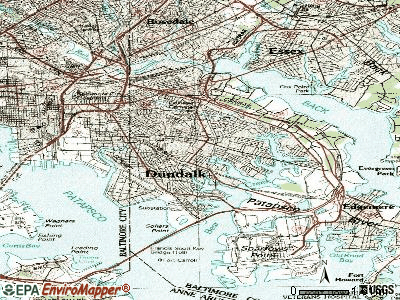 Dundalk topographic map