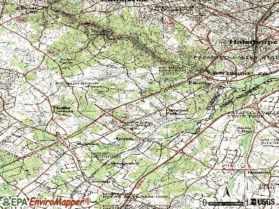 Elkridge topographic map