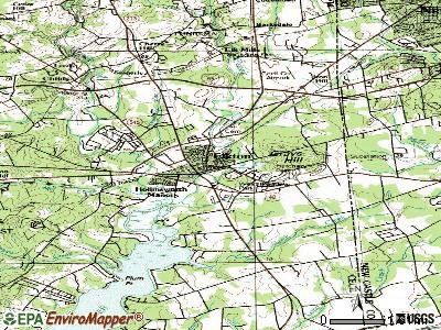 Elkton topographic map