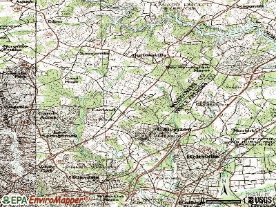 Fairland topographic map