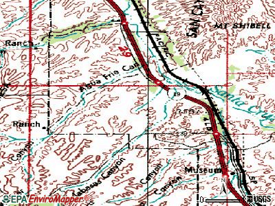 Rio Rico Southwest topographic map